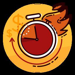 Ícone de relógio de taxa de queima dinheiro