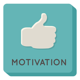 Motivation square icon