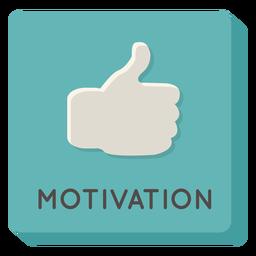 Motivation square icon