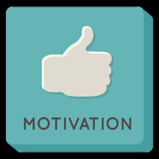 Motivation square icon Transparent PNG