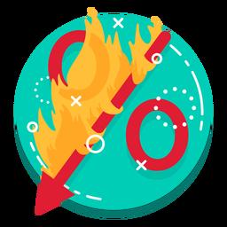Icono de porcentaje de quema