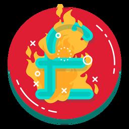 Icono de tasa de quema de libra
