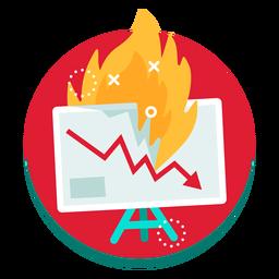 Taxa de queima do gráfico da tela de apresentação