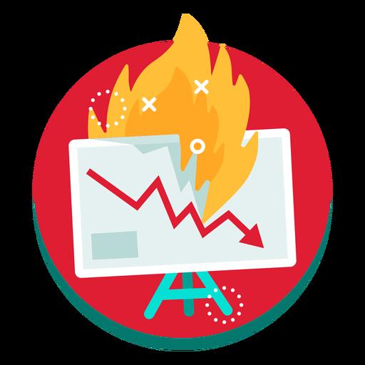 Presentation screen graph burn rate Transparent PNG