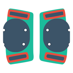 Roller skate knee pads icon