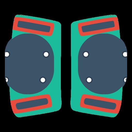 Ícone de joelheiras de patins Transparent PNG
