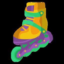 Ilustración de zapato de patinaje sobre ruedas