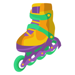 Roller skate shoe illustration