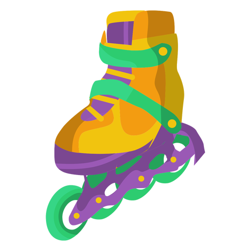 Roller skate shoe illustration