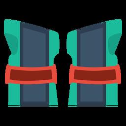 Ícone de guardas de pulso de patins