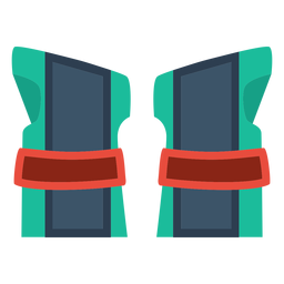 Roller skate wrist guards icon