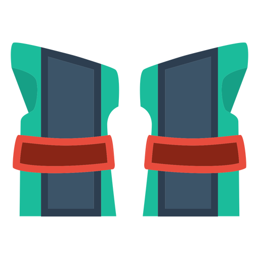 Roller skate wrist guards icon Transparent PNG