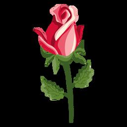 Icono de tallo de brote rosa