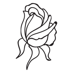 Rose bud stroke icon