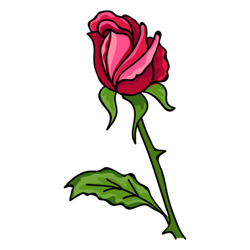 Rose bud water paint icon Transparent PNG