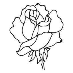 Rose flower head stroke icon