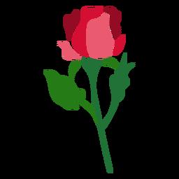 Icono de flor color de rosa