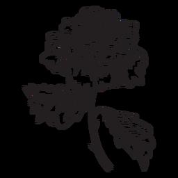 Icono de esbozo de flor rosa
