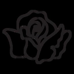 Rose head stroke icon