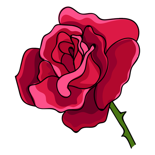 Rose head water paint icon Transparent PNG