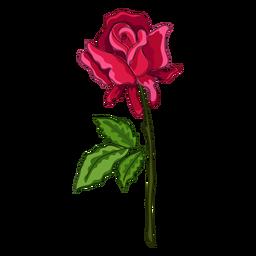 Icono de pintura de agua de tallo de rosa