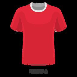 Dibujos animados de camiseta de fútbol de la copa mundial de rusia
