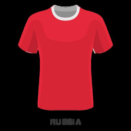 Desenhos animados da camisa do futebol do campeonato do mundo de Rússia Transparent PNG
