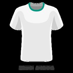 Dibujos animados de camisa de fútbol de la Copa Mundial de Arabia Saudita
