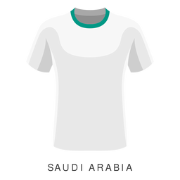 Saudi-Arabien-Weltcup-Fußballhemdkarikatur