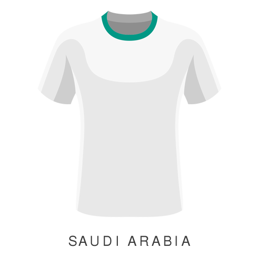 Saudi arabia world cup football shirt cartoon Transparent PNG