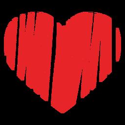 Icono de corazón garabateado