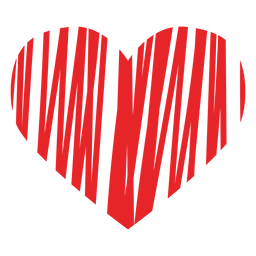 Icono del corazón garabateado