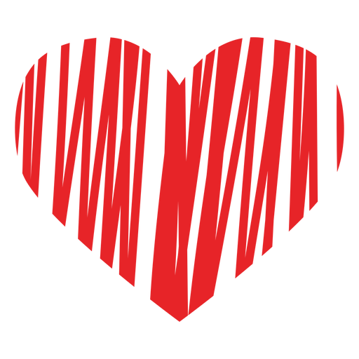 Scribbled heart icon Transparent PNG