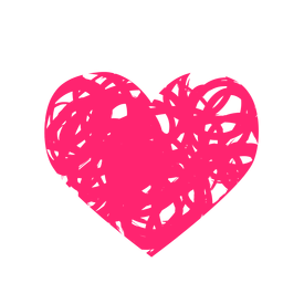 Etiqueta do coração rabiscado