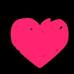 Etiqueta engomada del corazón garabateado