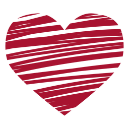 Scribbled heart vector