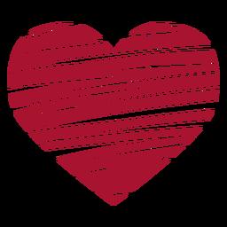 Vetor de coração rabiscado