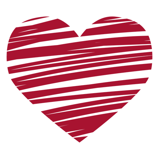 Scribbled heart vector Transparent PNG