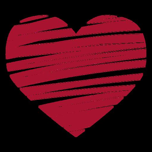 Scribbled heart vector