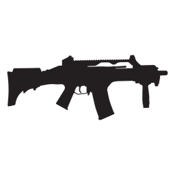 Semi auto rifle silhueta cinza