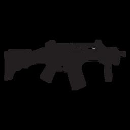 Silhueta de rifle semi auto cinza