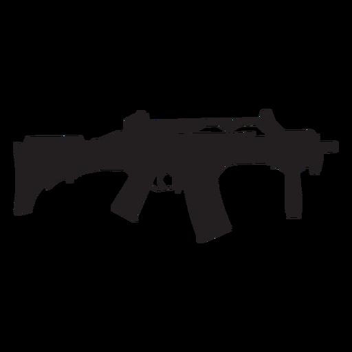Rifle semi auto silueta gris Transparent PNG