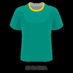 Dibujos animados de camiseta de fútbol de la copa mundial de senegal