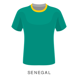 Senegal world cup football shirt cartoon