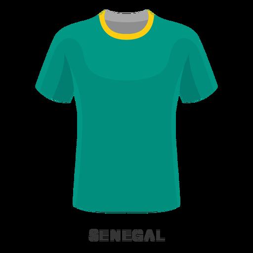 Desenhos animados da camisa do futebol da copa do mundo de Senegal Transparent PNG