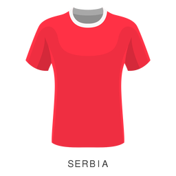 Serbia copa mundial de fútbol camiseta de dibujos animados