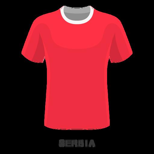 Serbia world cup football shirt cartoon Transparent PNG