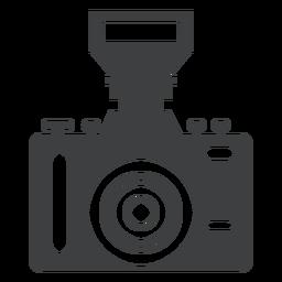 Icono de cámara única lente gris