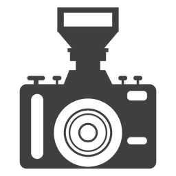 Single lens camera grey icon