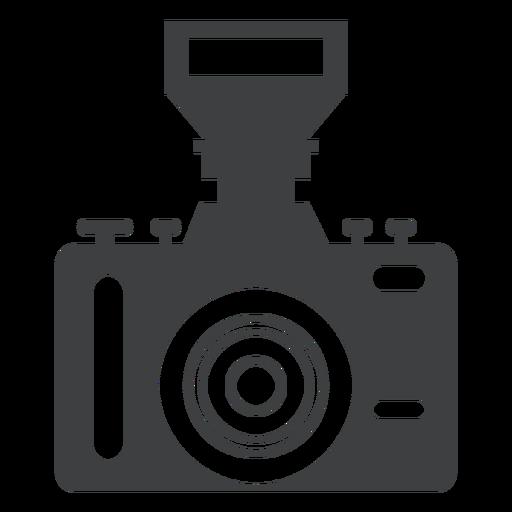 Single lens camera grey icon